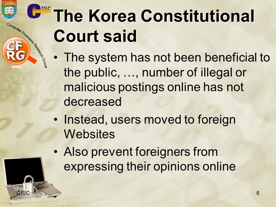 The Korea Constitutional Court said