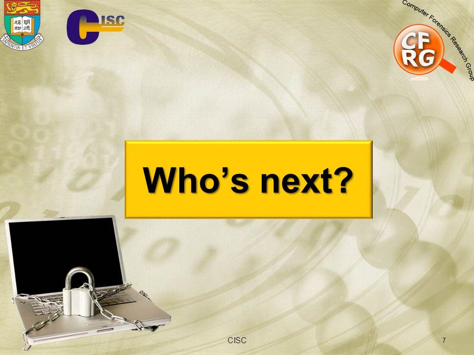 Who's next CISC