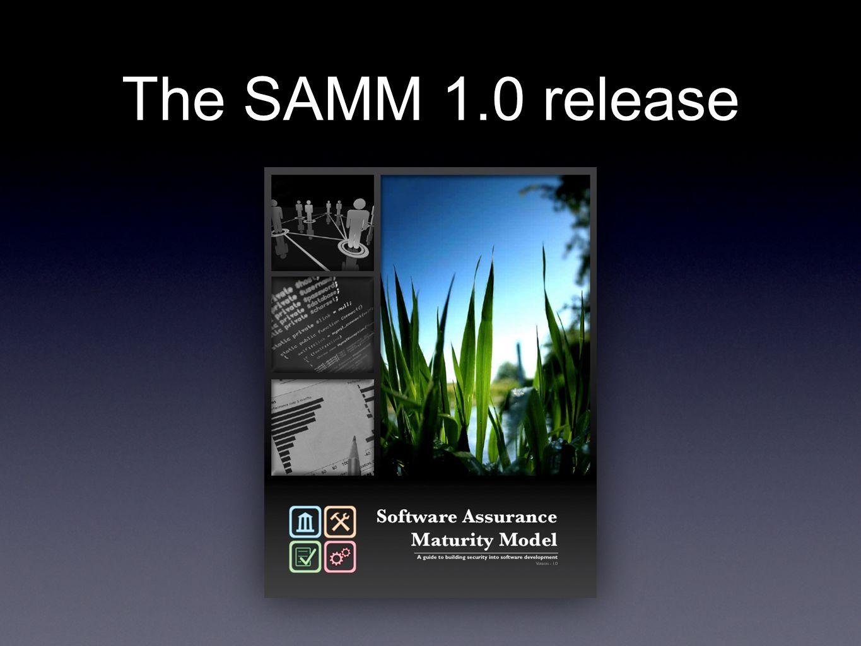 The SAMM 1.0 release