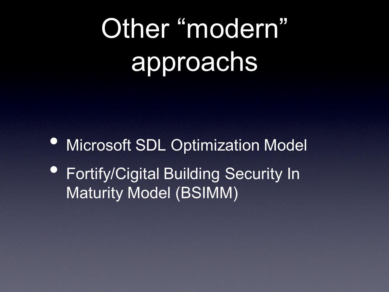 Other modern approachs