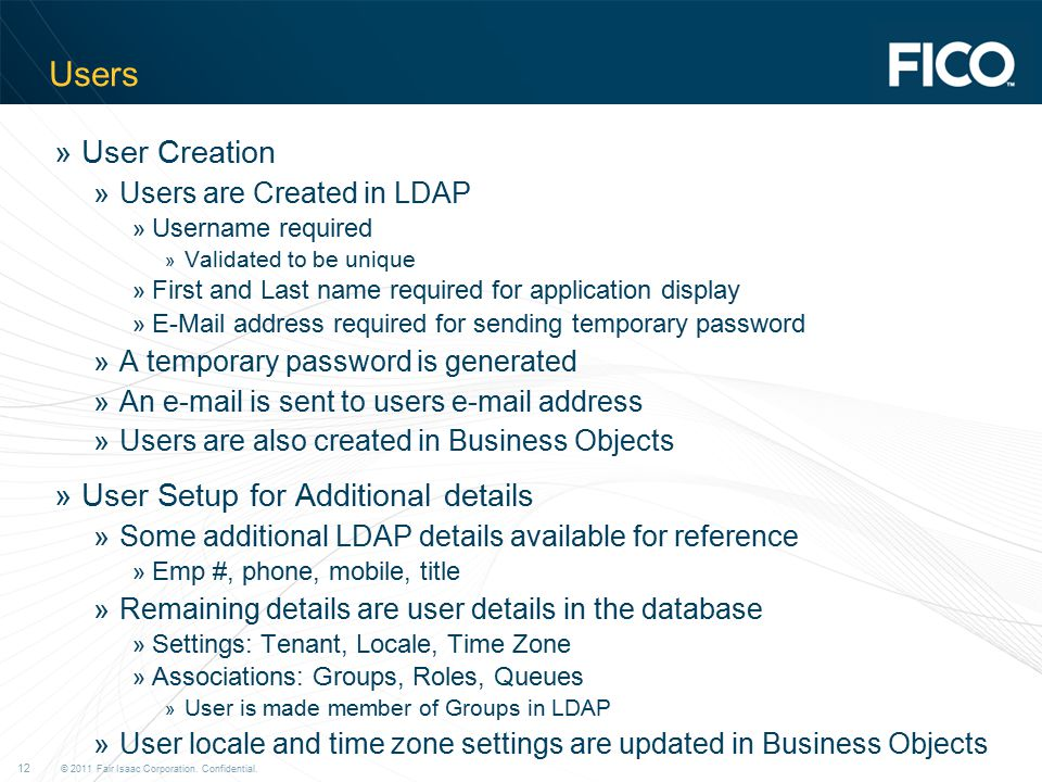 Users User Creation User Setup for Additional details