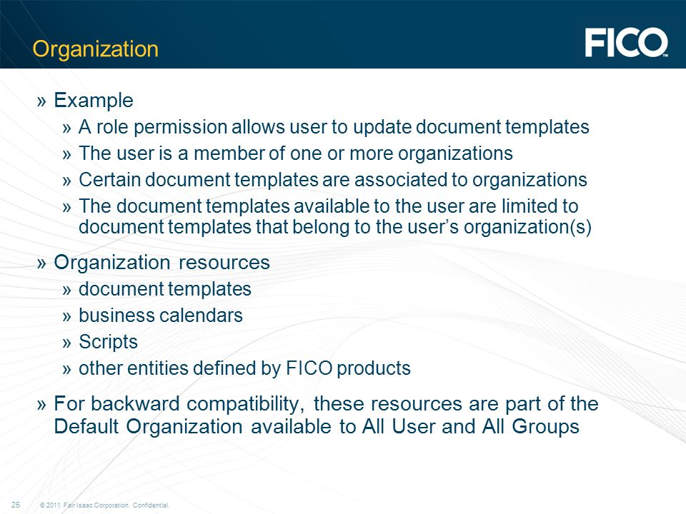 Organization Example Organization resources