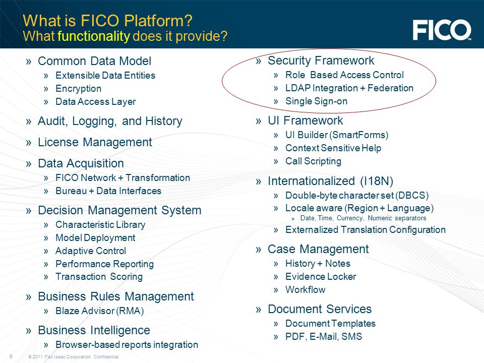 What is FICO Platform What functionality does it provide