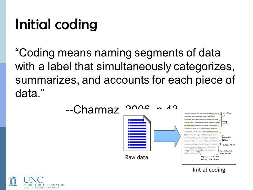Initial coding