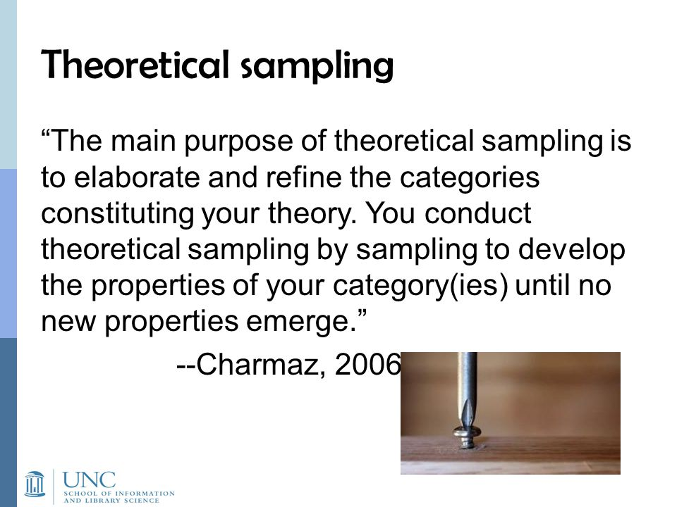 Theoretical sampling