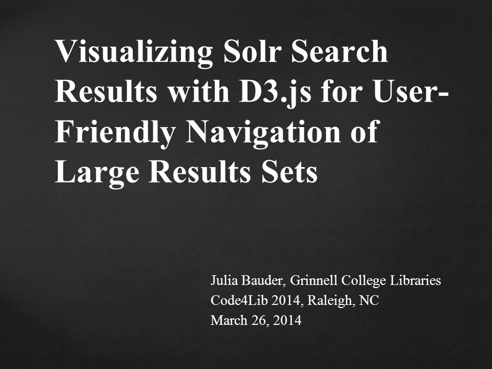 Visualizing Solr Search Results with D3