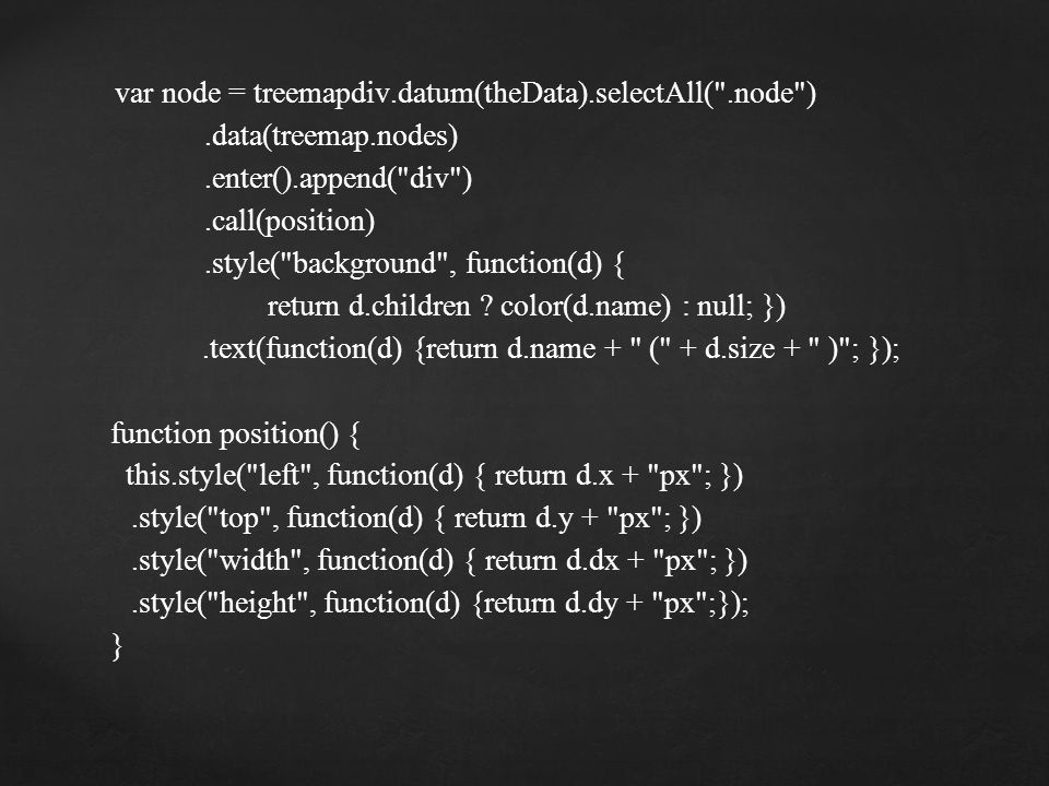 var node = treemapdiv.datum(theData).selectAll( .node )