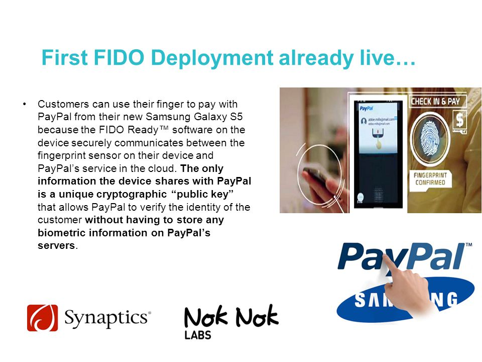 First FIDO Deployment already live…