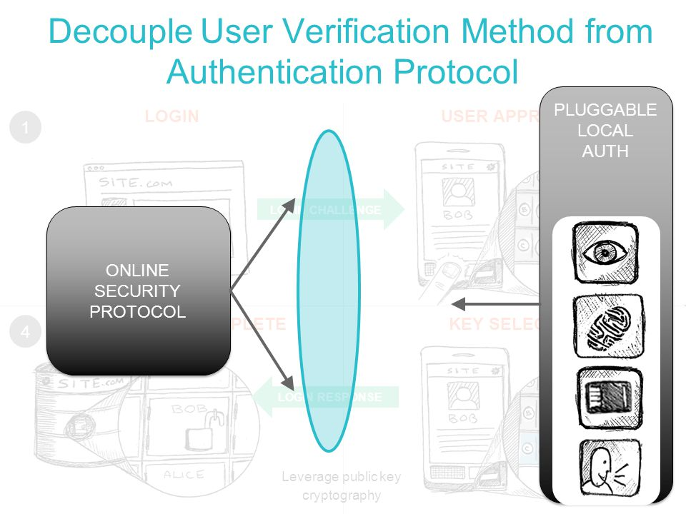Decouple User Verification Method from Authentication Protocol