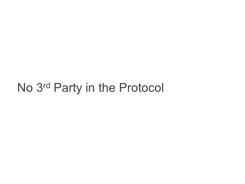 No 3rd Party in the Protocol