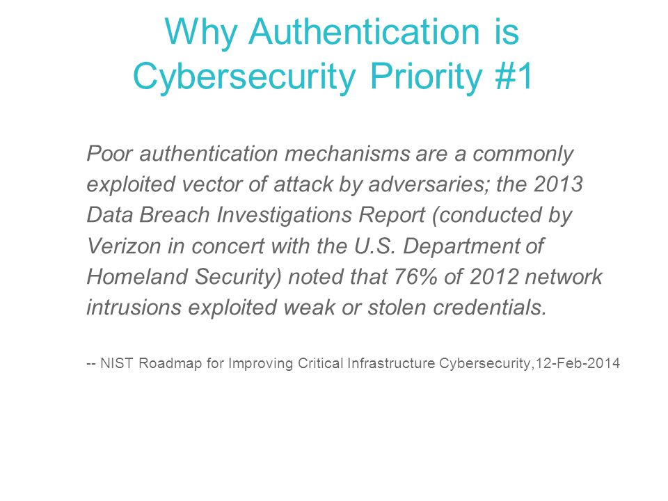 Why Authentication is Cybersecurity Priority #1