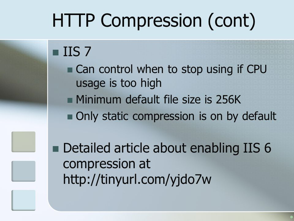 HTTP Compression (cont)