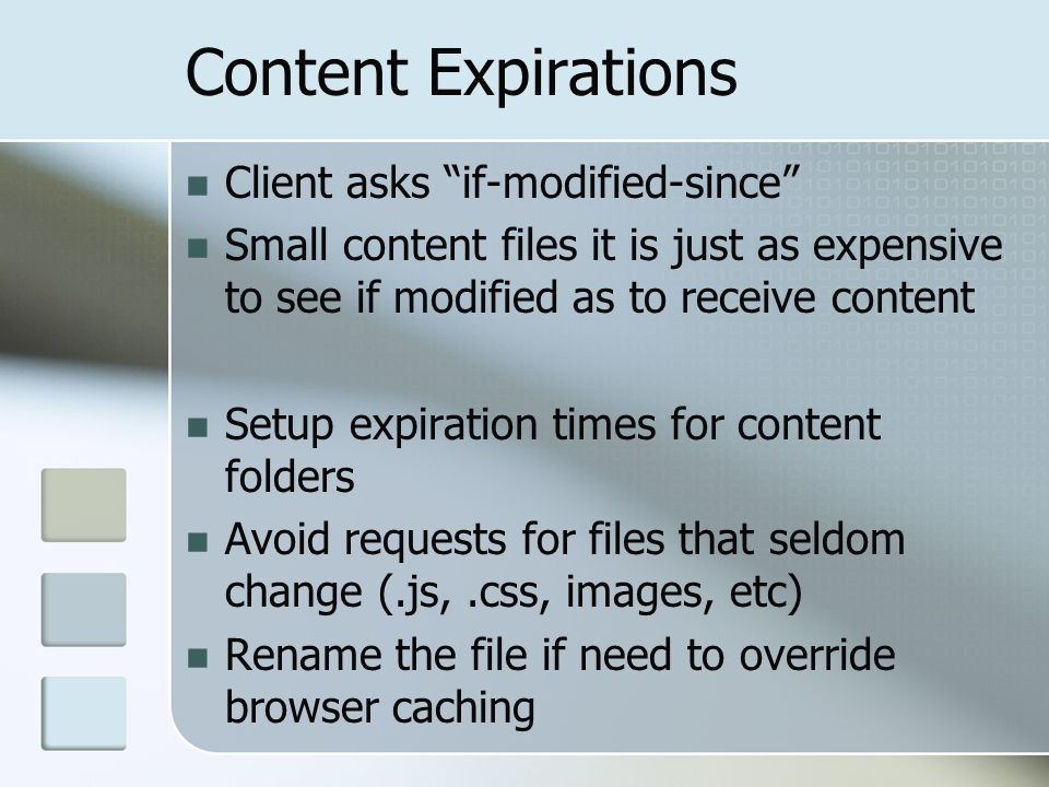 Content Expirations Client asks if-modified-since