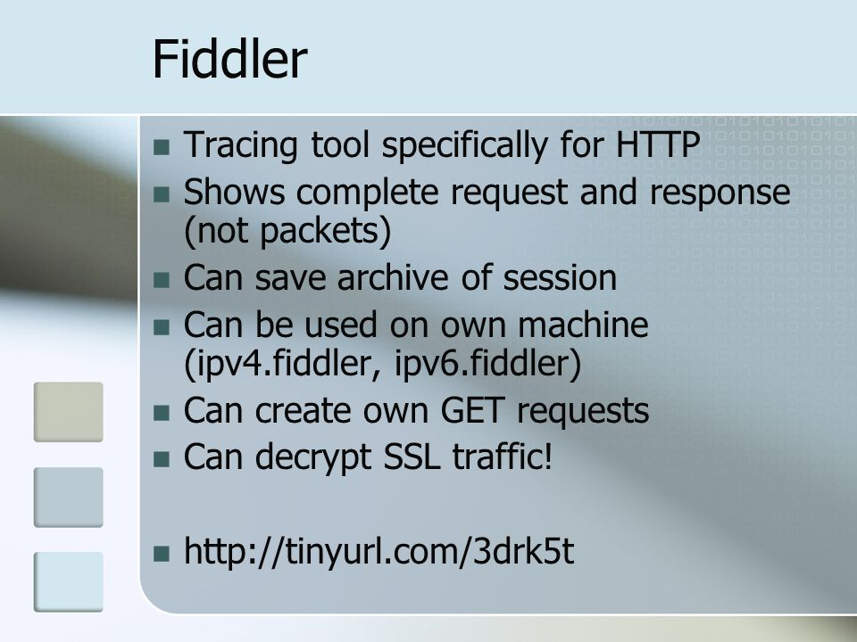 Fiddler Tracing tool specifically for HTTP