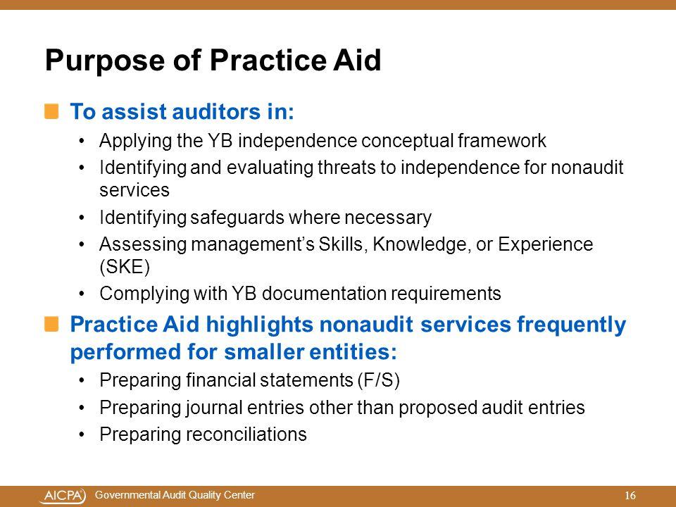 Purpose of Practice Aid