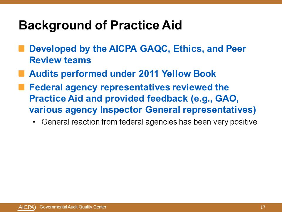 Background of Practice Aid
