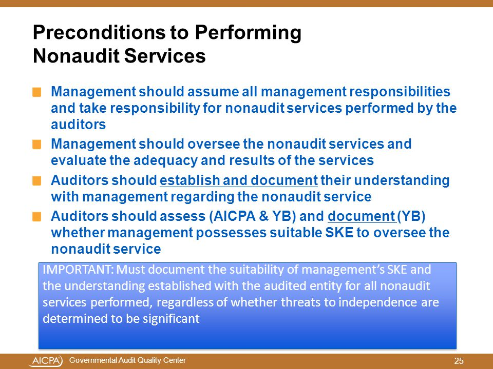 Preconditions to Performing Nonaudit Services