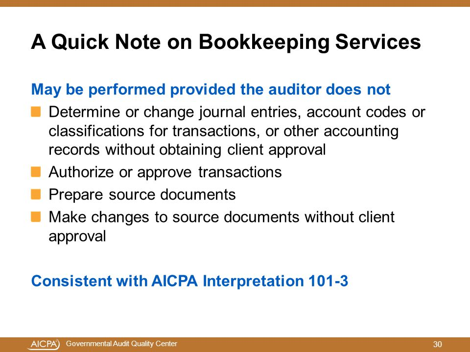 A Quick Note on Bookkeeping Services