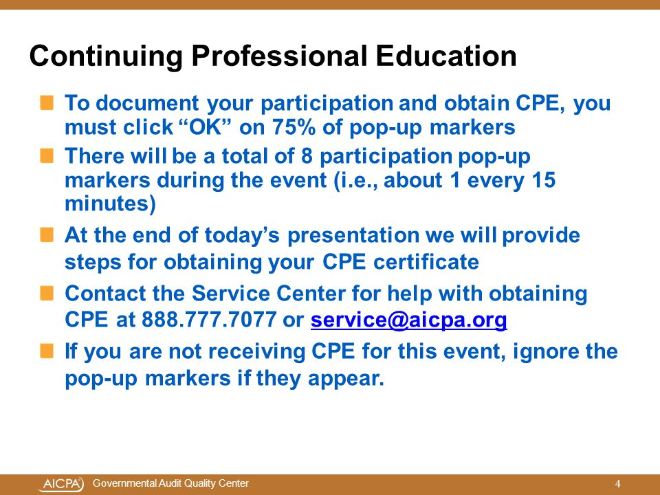 Continuing Professional Education