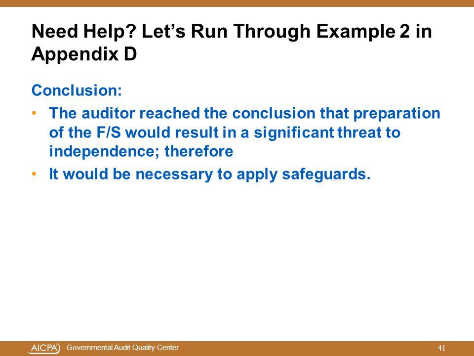 Need Help Let's Run Through Example 2 in Appendix D