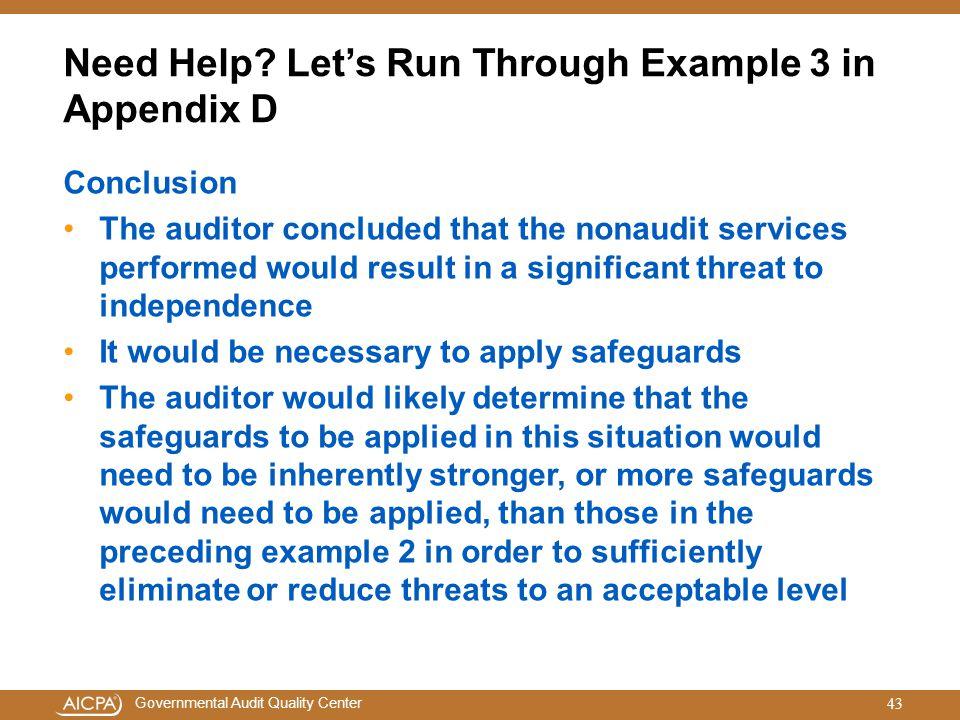 Need Help Let's Run Through Example 3 in Appendix D