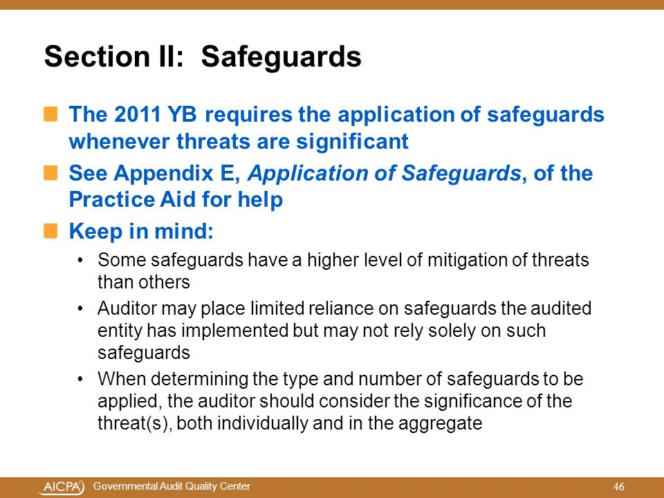 Section II: Safeguards
