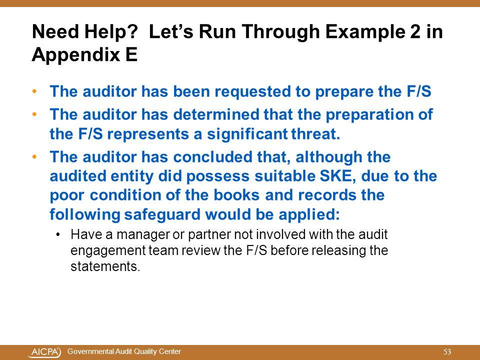 Need Help Let's Run Through Example 2 in Appendix E
