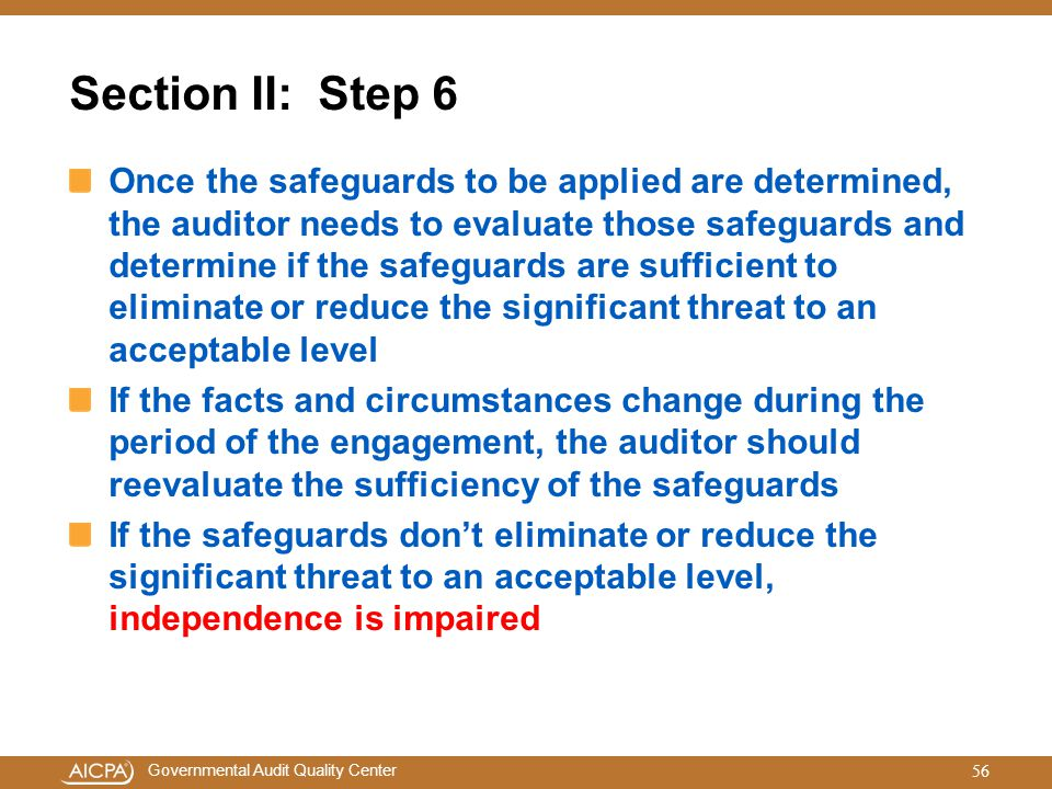 Section II: Step 6