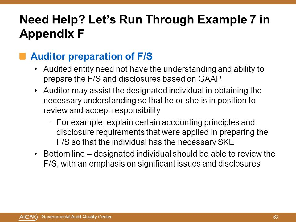 Need Help Let's Run Through Example 7 in Appendix F