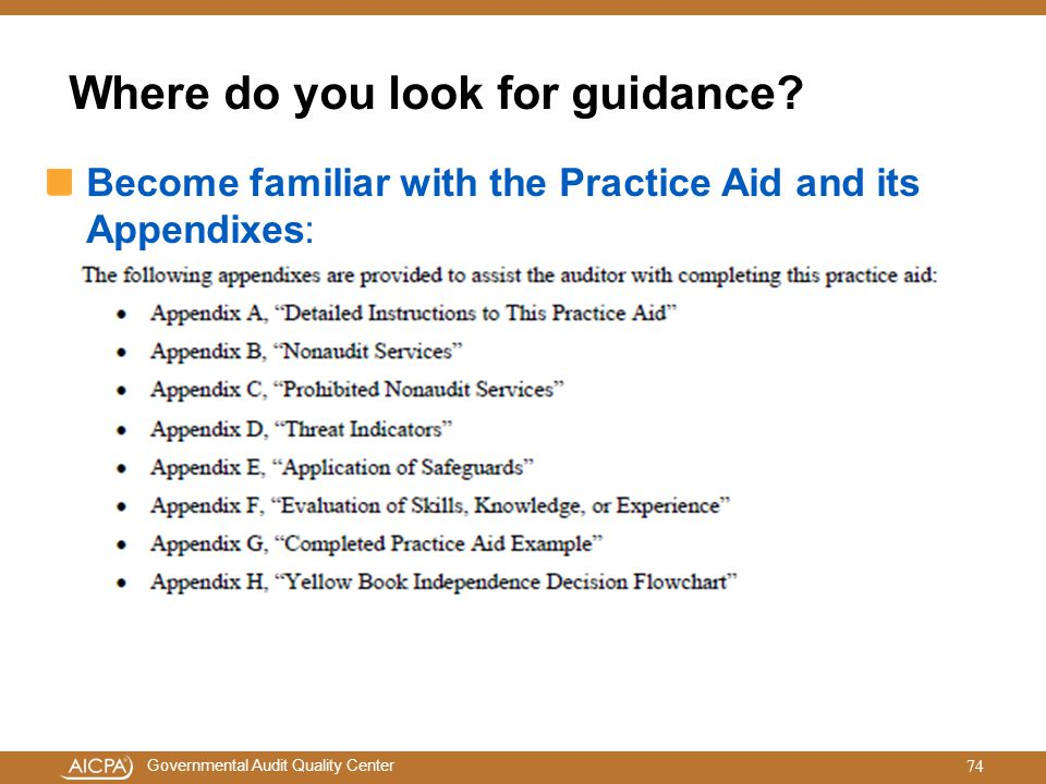 Where do you look for guidance