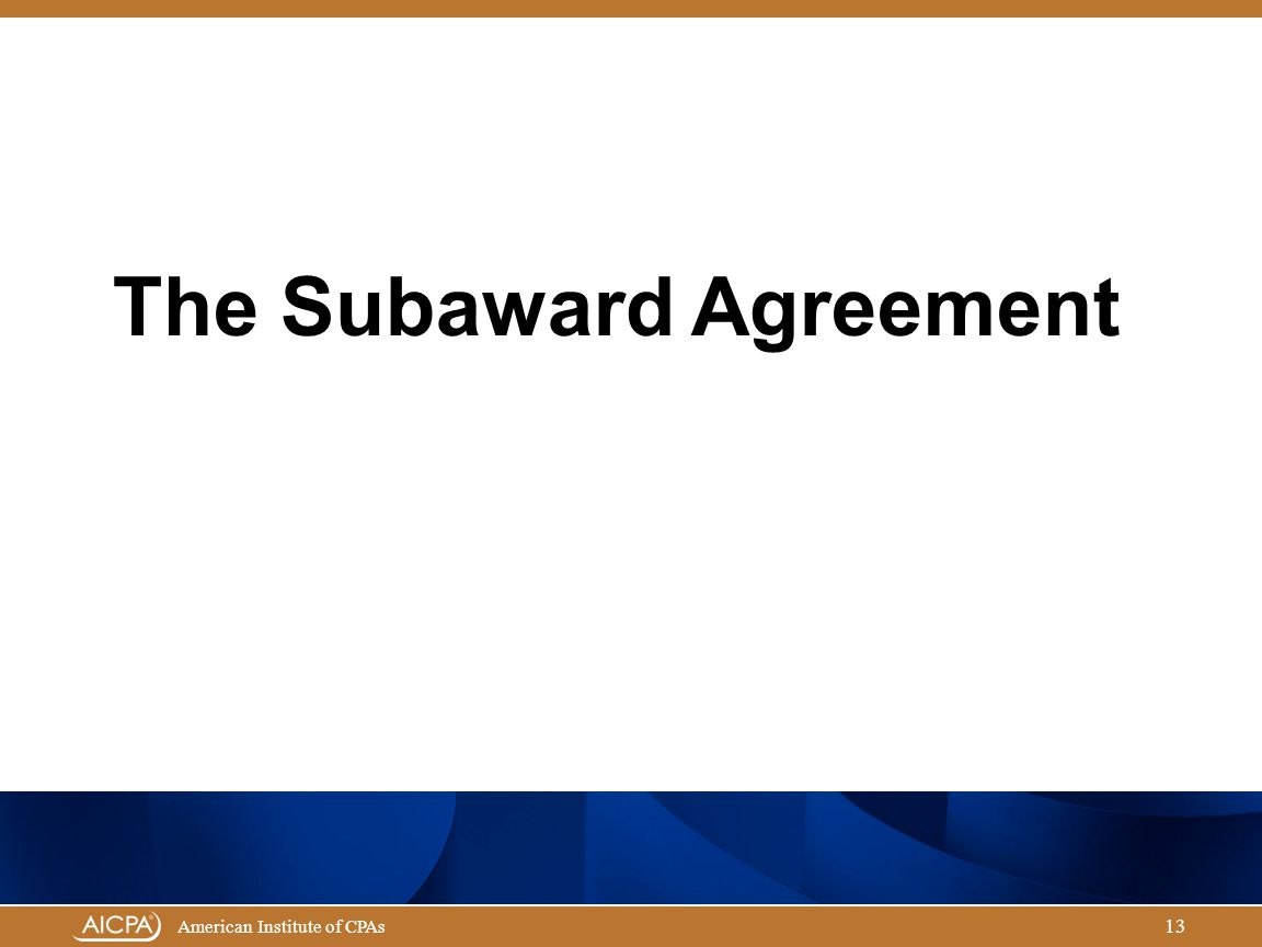 The Subaward Agreement