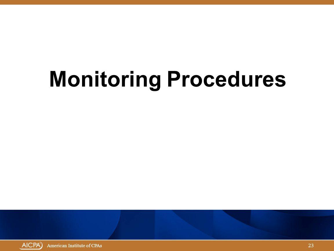 Monitoring Procedures