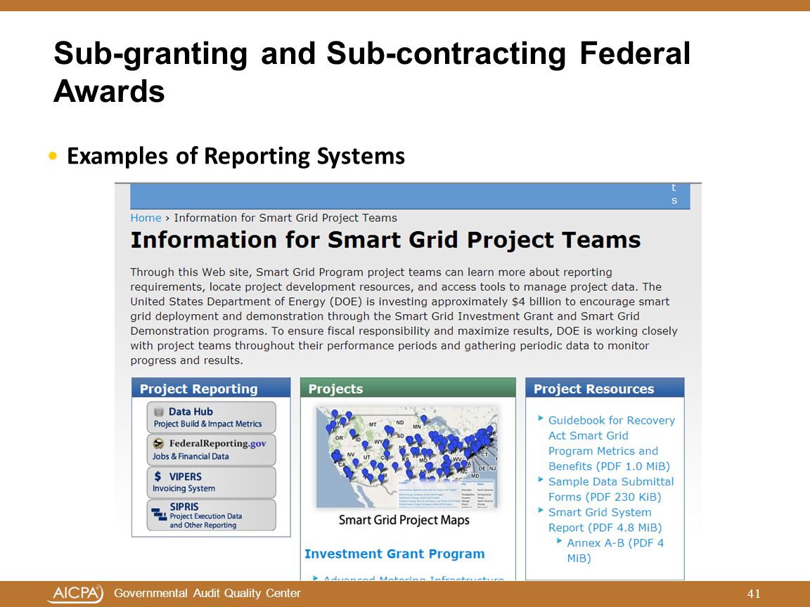 Sub-granting and Sub-contracting Federal Awards