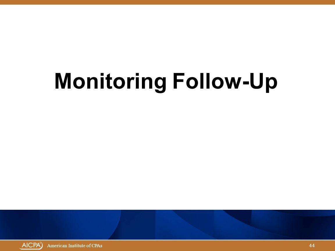 Monitoring Follow-Up