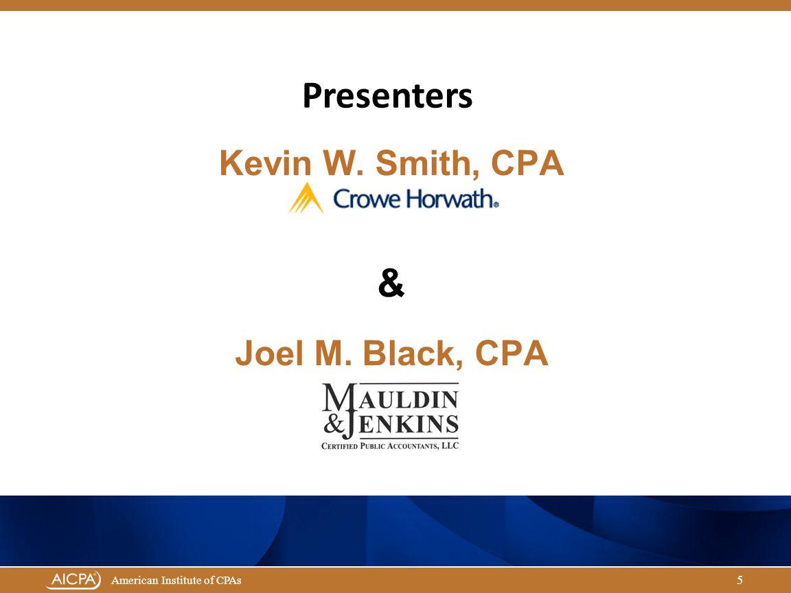 Kevin W. Smith, CPA & Joel M. Black, CPA