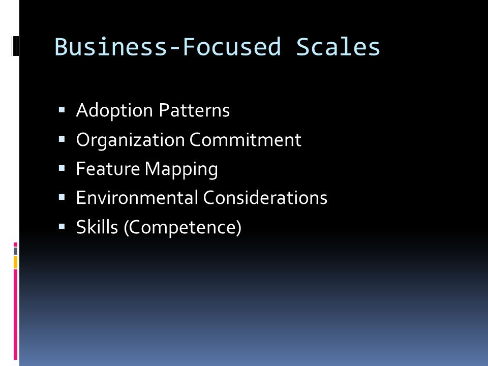 Business-Focused Scales