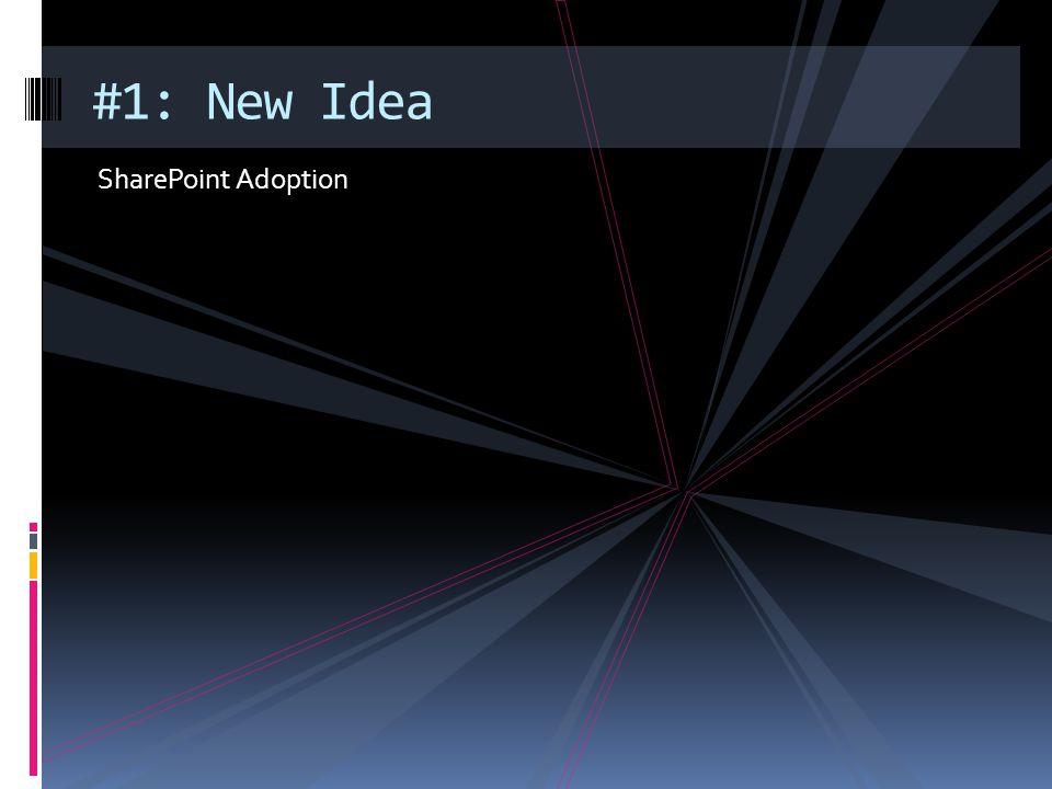 #1: New Idea SharePoint Adoption