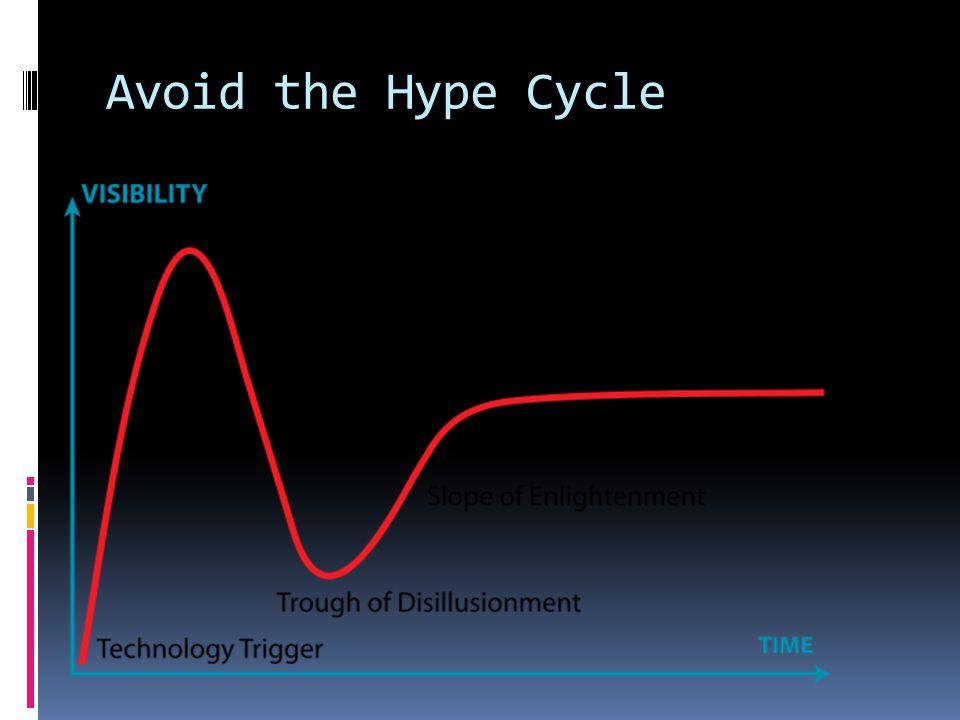 Avoid the Hype Cycle