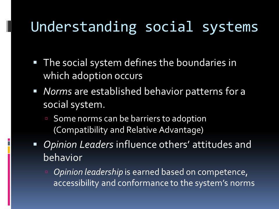 Understanding social systems