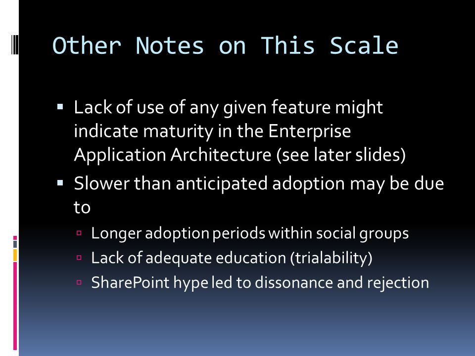 Other Notes on This Scale