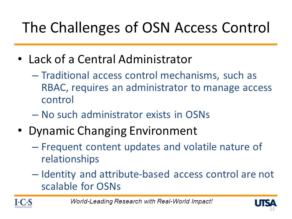 The Challenges of OSN Access Control