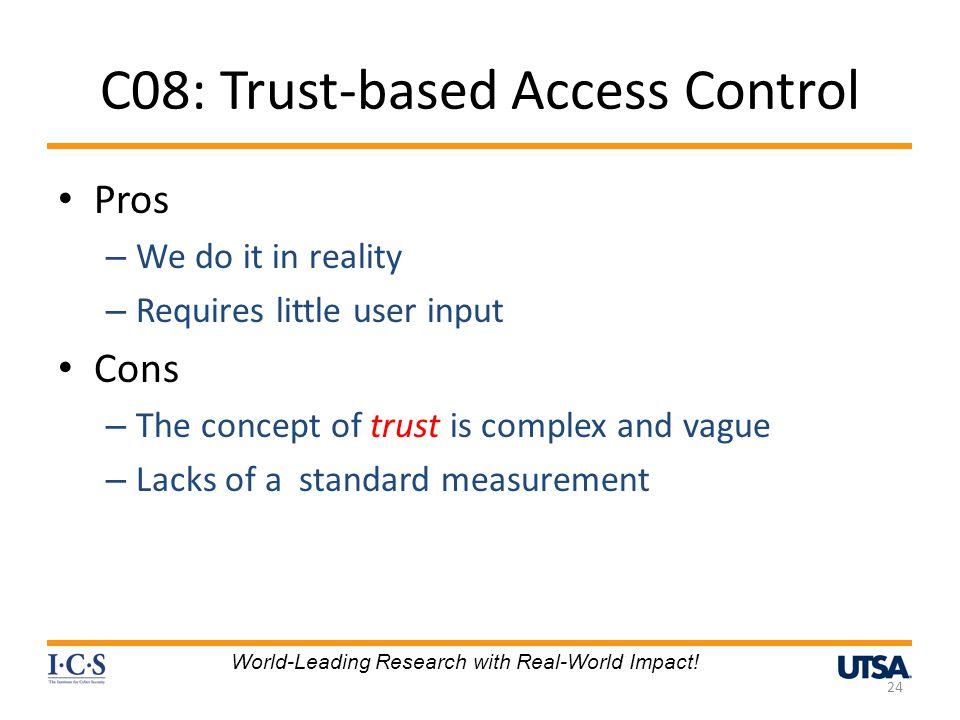 C08: Trust-based Access Control