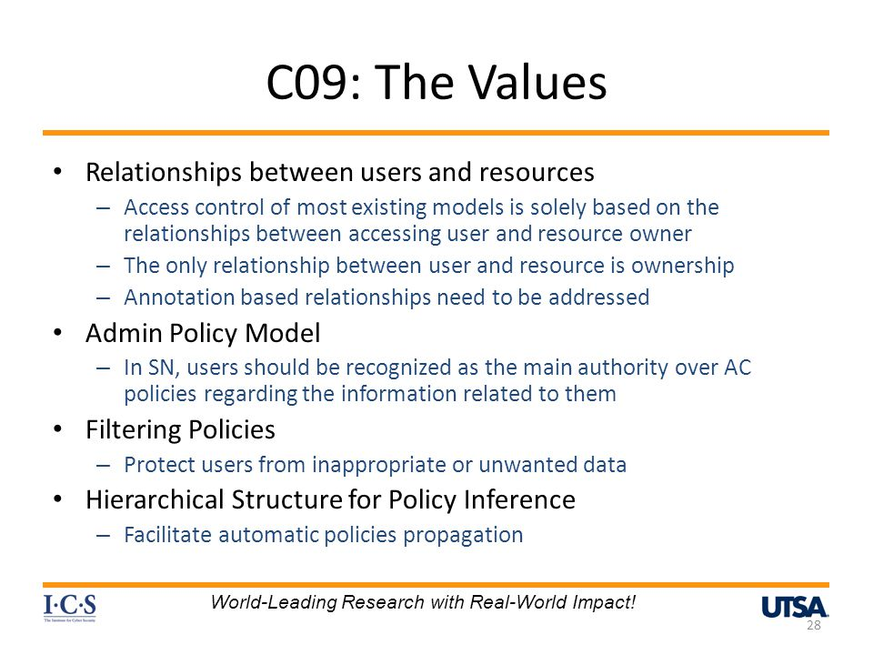 C09: The Values Relationships between users and resources