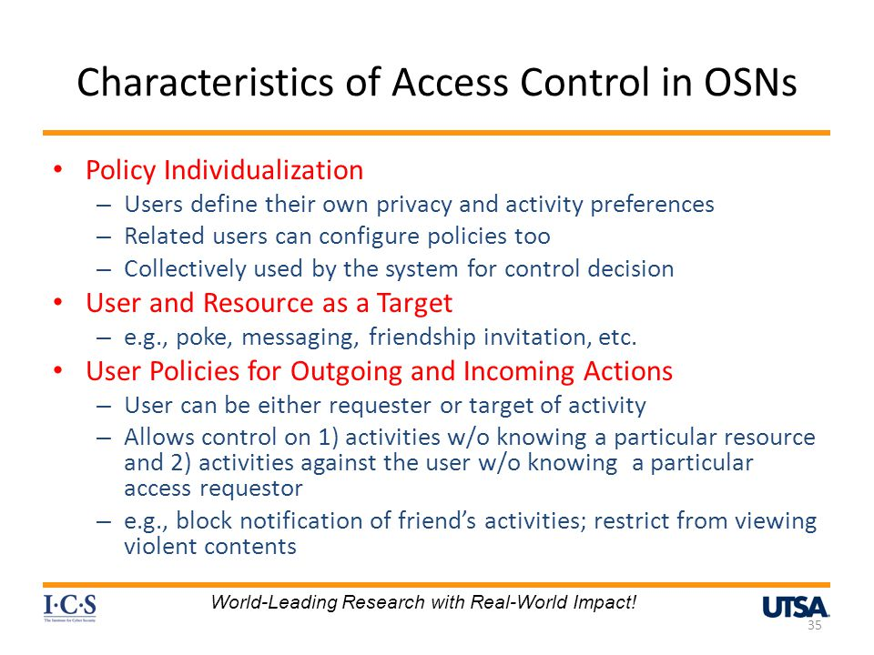 Characteristics of Access Control in OSNs