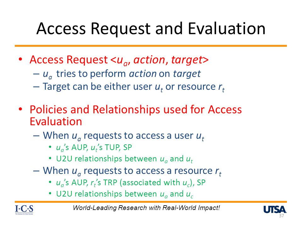 Access Request and Evaluation