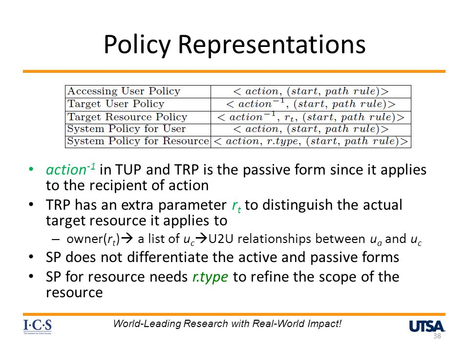 Policy Representations