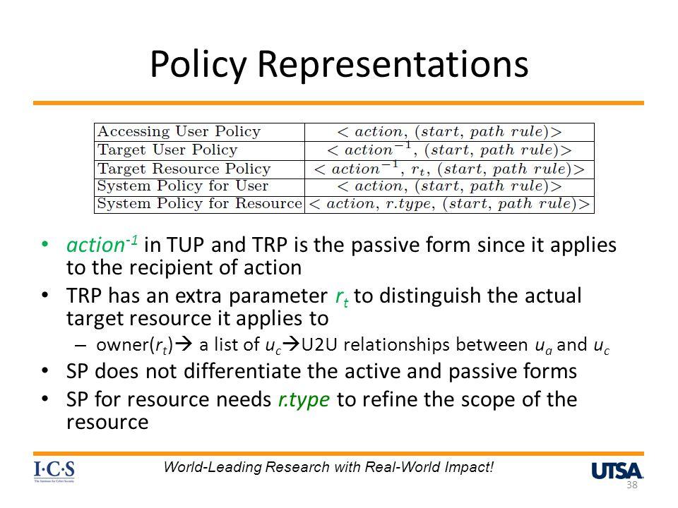 Policy Representations