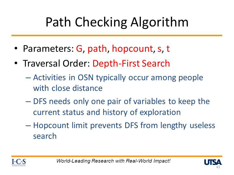 Path Checking Algorithm