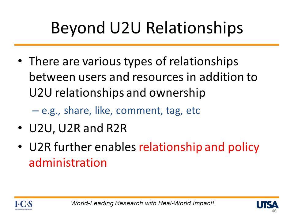Beyond U2U Relationships