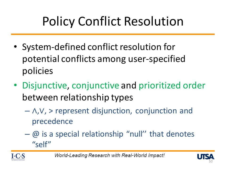 Policy Conflict Resolution